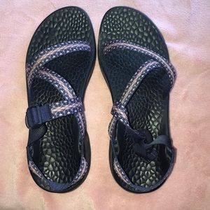 Chacos! Women size 10 blue & pink design.